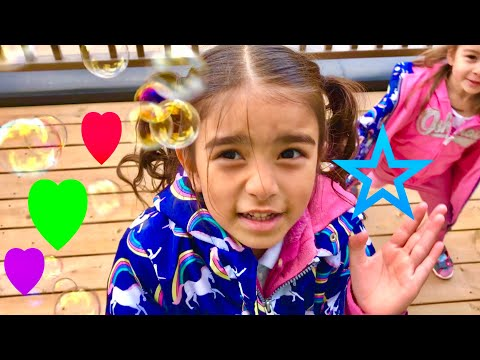 Fubbles No-Spill Bubbles for Kids - Outdoor Fun With Daddy and Bubbles - Learn Colors - Kindergarten