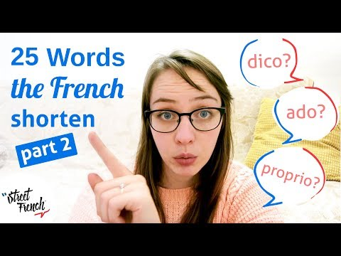 25 FRENCH Abbreviations - Part 2