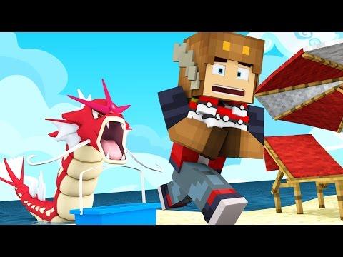 CATCHING SECRET SHINY GYARADOS IN POKEMON GO! (Minecraft Roleplay)