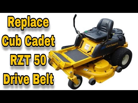 How To Replace The Drive Belt (Pump Belt) On A Cub Cadet RZT 50 Zero Turn Mower - with Taryl