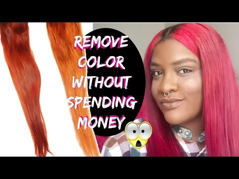 Remove hair color WITHOUT bleach