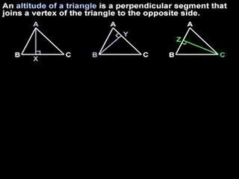 Altitude of a Triangle - MathHelp.com - Geometry Help