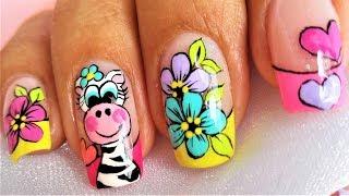 DECORACION paso a paso de uñas con pinturas acrílicas ...