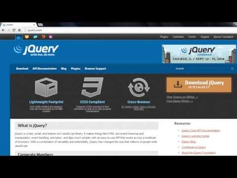 jQuery Beginners Tutorials - Downloading and Installing jQuery - Part 1