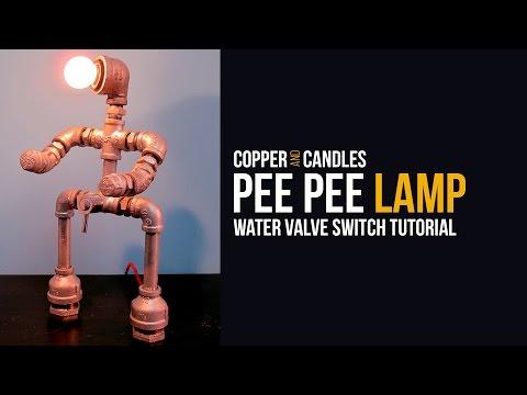 DIY Water Valve Light Switch Tutorial Galvanized Pipe Lamp and Industrial Design Steampunk Design