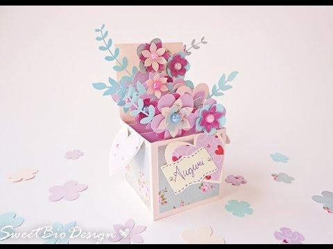 Scatola fiori Pop-up - card pop up 3d flowers