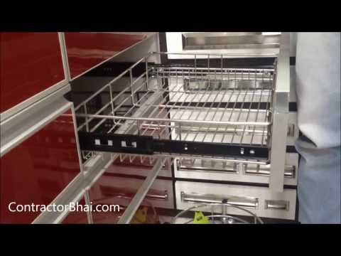 Kitchen Trolley Designs by ContractorBhai.com