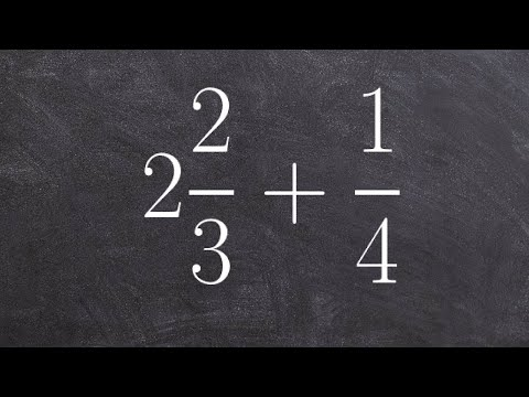 Learn how to add a mixed number to a fraction with unlike denominators