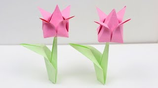 How To Make Easy Origami Tulip