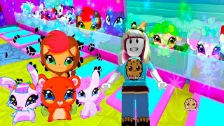 Adopting The Cutest Pets Ever! - Being A Mermaid In  Enchantix High School Roblox Game