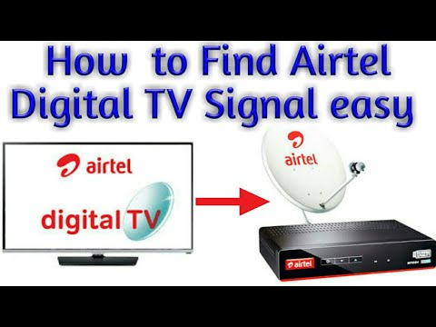 How to Find Airtel Digital TV Signal in 5 Minutes in  Hindi.
