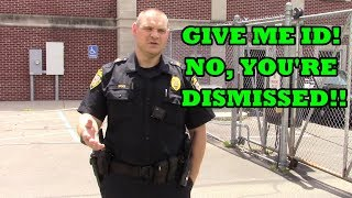 GIVE ME ID - Police (OWNED) Intimidation FAIL! 1st Amendment Audit - SCRIPT FLIP