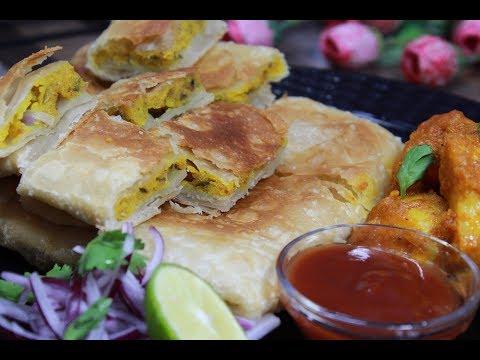 মোঘলাই পরোটা||Mughlai Paratha Recipe||Moglai Porota||Popular Street Food Of Kolkata