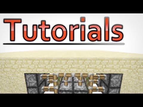 PISTON 2x2 HOLE DOOR (Minecraft: Tutorial)