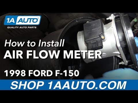 How to Install Replace Mass Air Flow Sensor Meter 1997-98 Ford F-150 V8 4.6L