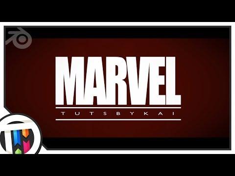 Marvel Intro recreated in Blender
