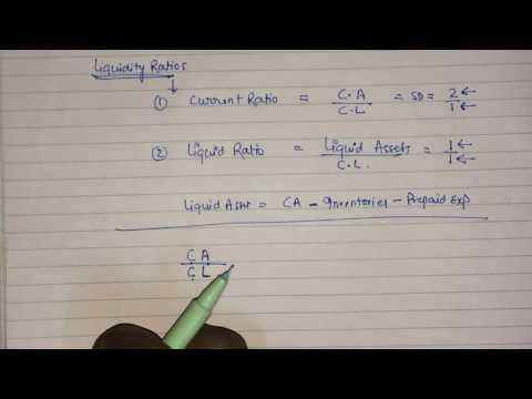 Accounting Ratios  part 1