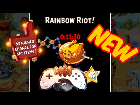 Angry Birds Epic Rainbow Bar ! Chaos 5x NEW