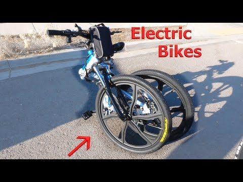 This Electric Bike FOLDS in HALF?! Testing a new off road beast.