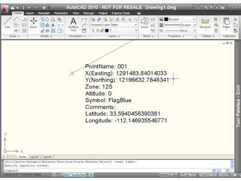 GPS2CAD - Plot Points in AutoCAD