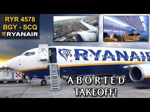 TRIP REPORT | Milan/Bergamo - Santiago | ABORTED TAKEOFF | RYANAIR B737 SkyInterior