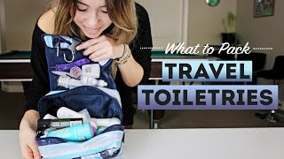 What To Pack: TRAVEL TOILETRIES