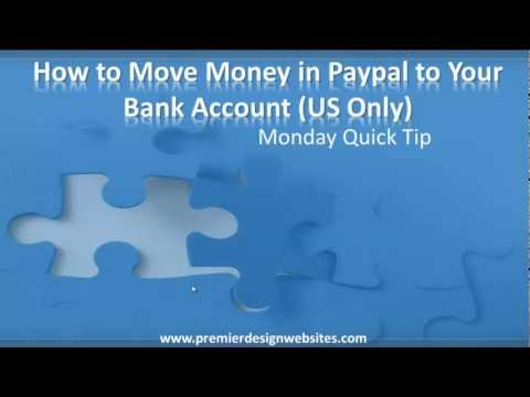 How To Move or Transfer Money from Paypal to Your Bank Account