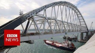 Controversial Russia-Crimea bridge opens - BBC News