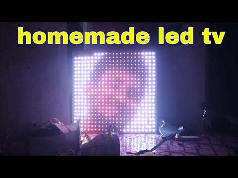 Make a large led tv display at home