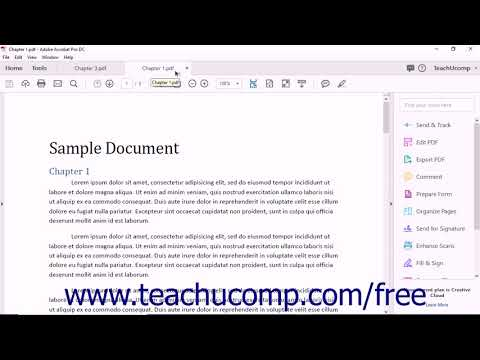 Acrobat Pro DC Tutorial The Acrobat Document Viewer - Adobe Acrobat Pro DC Training Tutorial Course