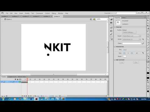 Text animation in Flash Cs6