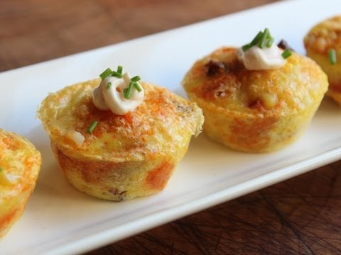Potato Chorizo Mini Quiches - Chorizo, Manchego, Potato Quiche Bites - Party Snack