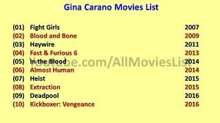 Gina Carano Movies List