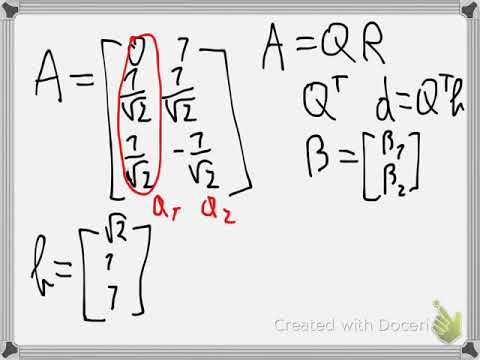 Least square approximation QR decomposition Example 3