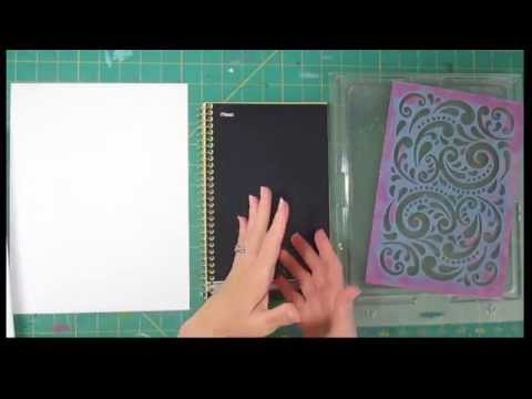 Covering a Spiral Bound Journal