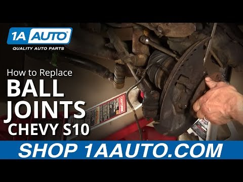 How To Install Replace Front Lower Ball Joint Part 1 Chevy GMC S-10 S15 Buy auto parts at 1aauto.com