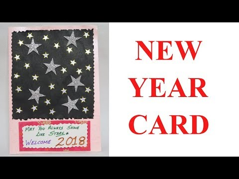 NEW YEAR CARD | CARD MAKING COMPETITION IN SCHOOL | DIY CARD | CARD MAKING | EASY CARD MAKING