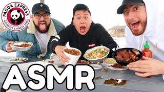ASMR Mukbang Panda Express (Eating Show) WITH REAL SOUNDS!!!!!