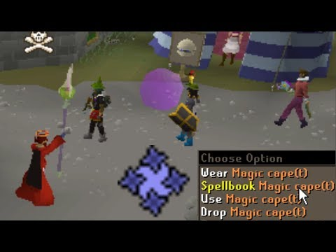 Tele blocking then Swapping Spellbook to Freeze