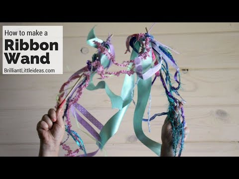How to make a Ribbon Wand.