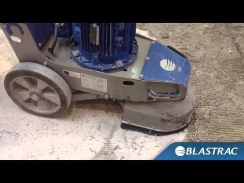 Removing Glue from Concrete | Blastrac BG-250E Grinder