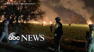 Illegally tapped pipeline goes up in flames