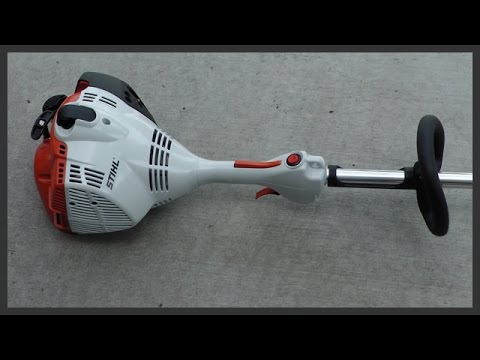 How to start a Stihl FS 56 string trimmer