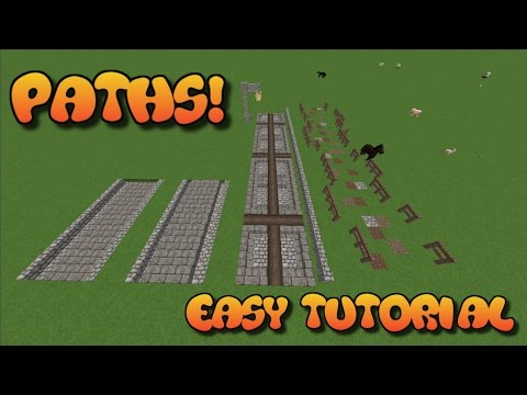 MINECRAFT | HOW TO MAKE A PATH | MAKING PATHS IN MINECRAFT | AWESOME MINECRAFT TUTORIAL