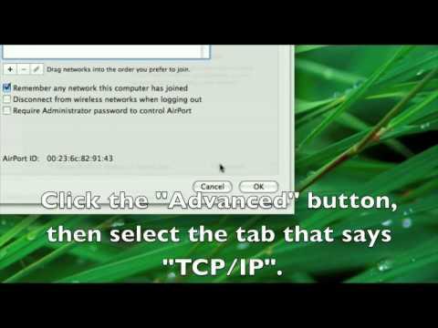 Tutorial: Setting Up a Static LAN IP (Mac)