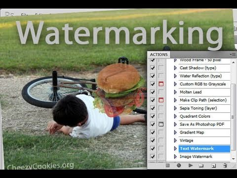 Photoshop - Batch Watermark