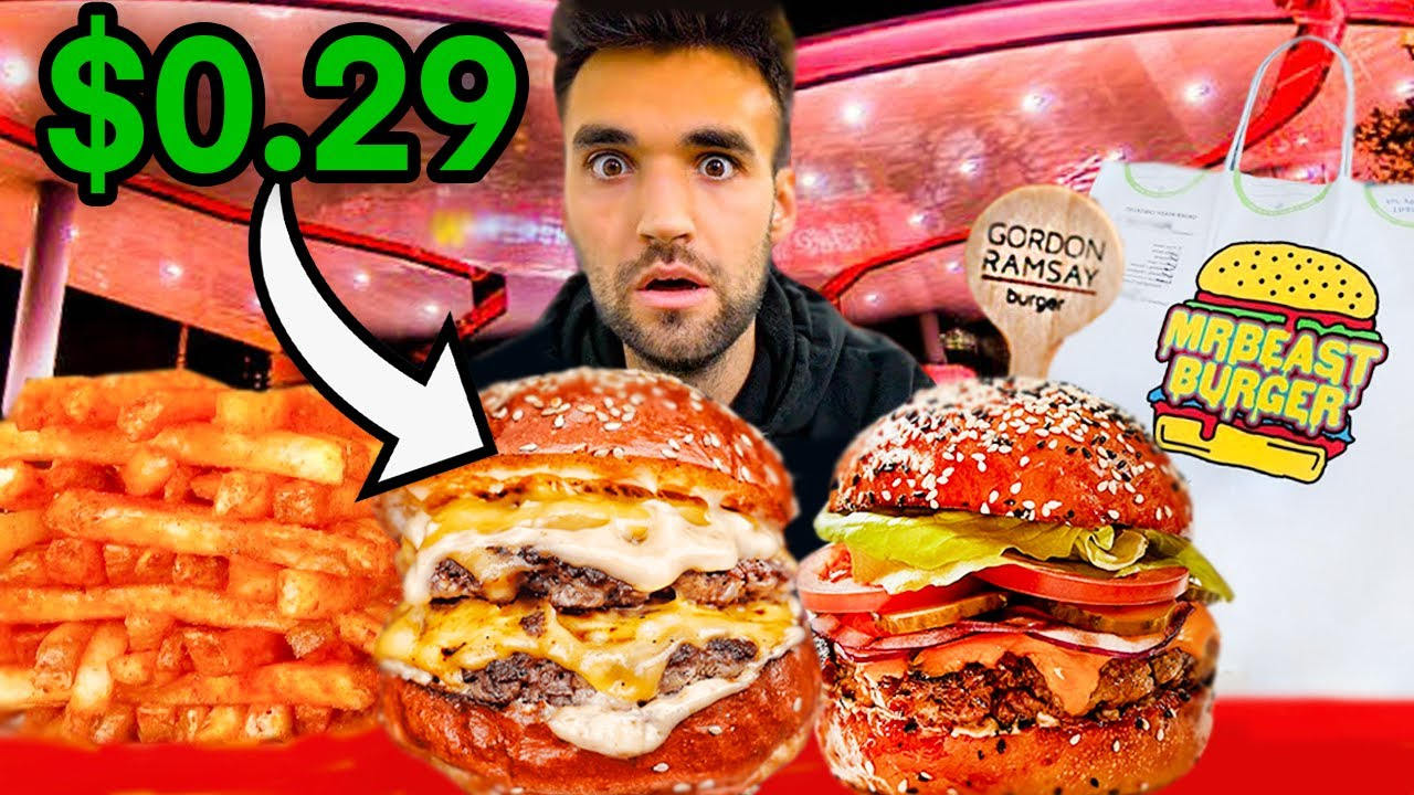 LIVING on WORLD'S BEST BURGERS for 24 HOURS (Gordon Ramsay, MrBeast Burger & MORE)!