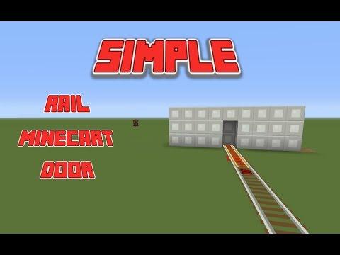 Minecart Rail Door (tutorial) Minecraft PS4