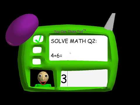 Baldi's Basics | How to slove THE IMPOSSIBLE question. (Baldi never angry)