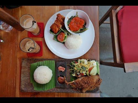 What to Eat in Beautiful Bali Indonesia - Warung Ocha Seminyak, fried chicken and crispy duck